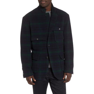 Woolrich Big Game Plaid Coat, Black