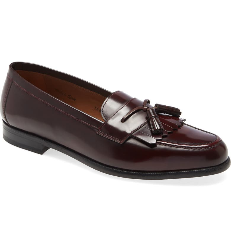 MEZLAN Santander Loafer, Main, color, BURGUNDY