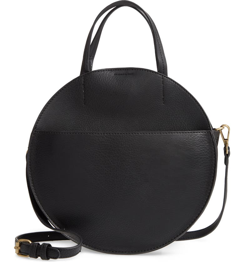 BP. Round Crossbody Bag, Main, color, BLACK