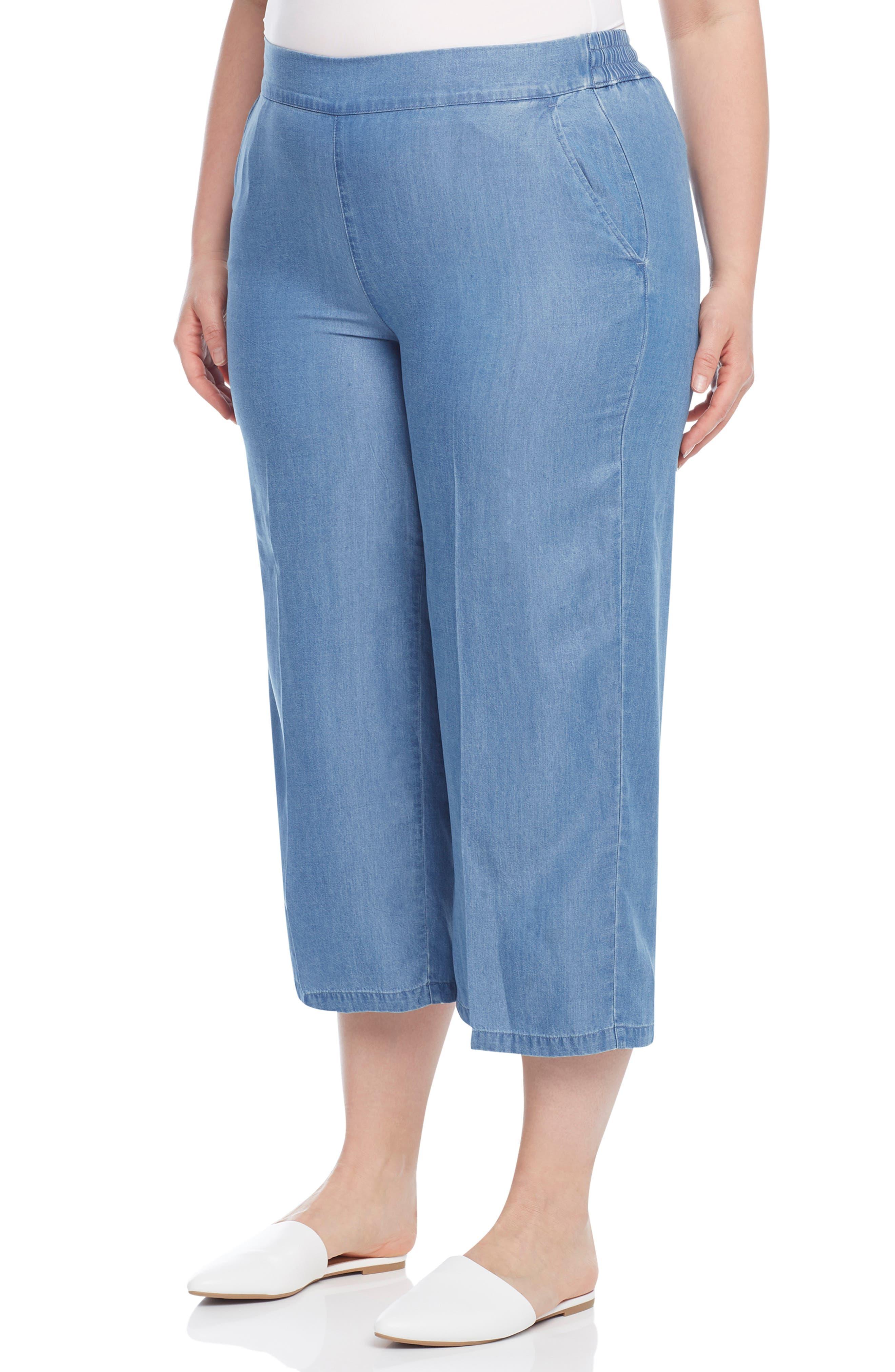 Crop Pull-On Pants