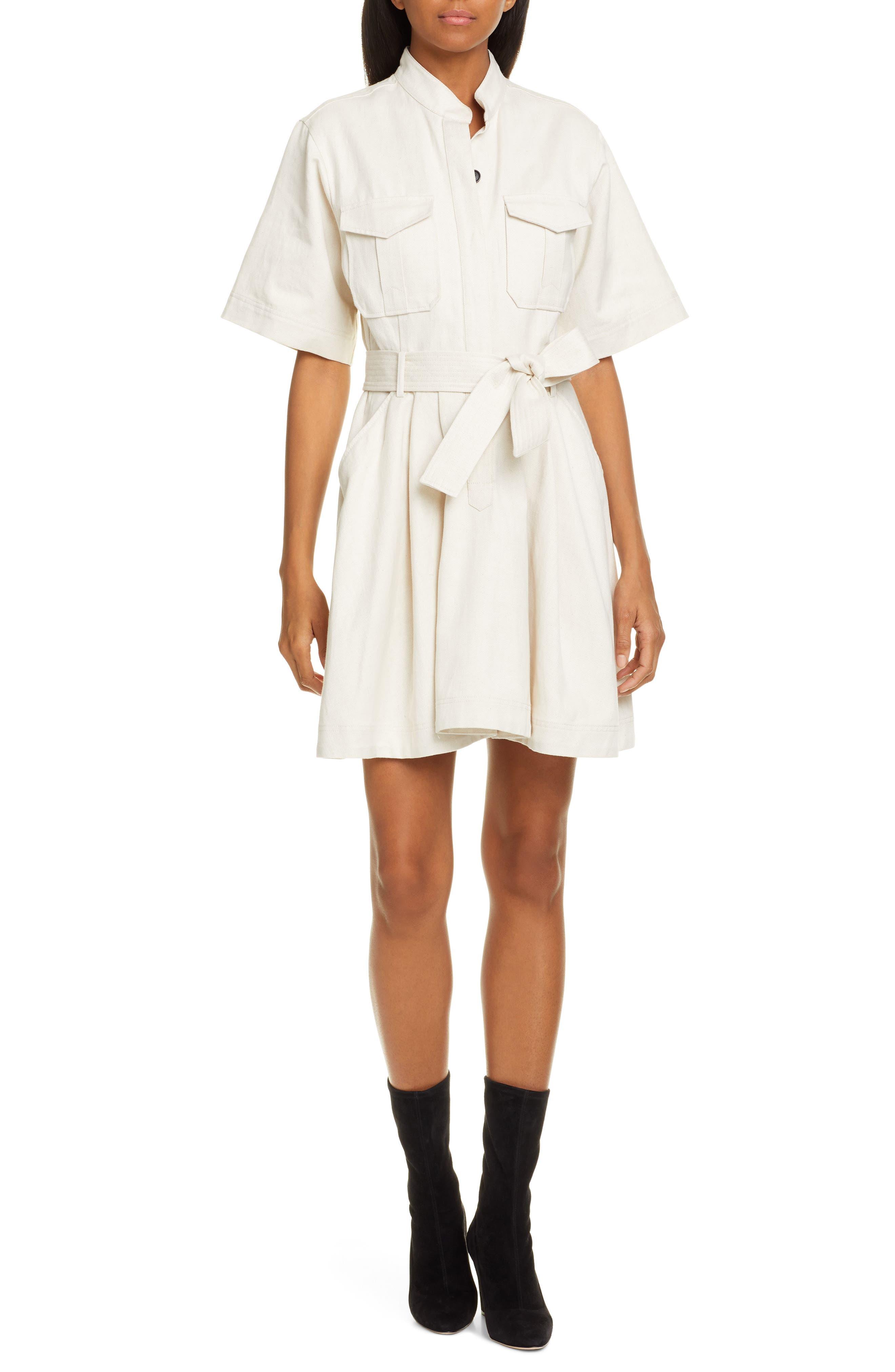 A.l.c. Bryn Belted A-Line Dress, Ivory