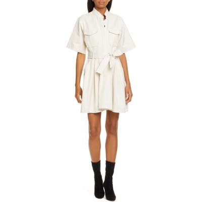 A.l.c. Bryn Belted A-Line Dress, Ivory