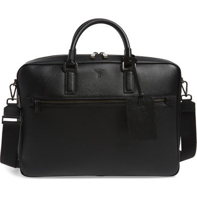 Serapian Milano Evoluzione Water Resistant Leather Briefcase - Black