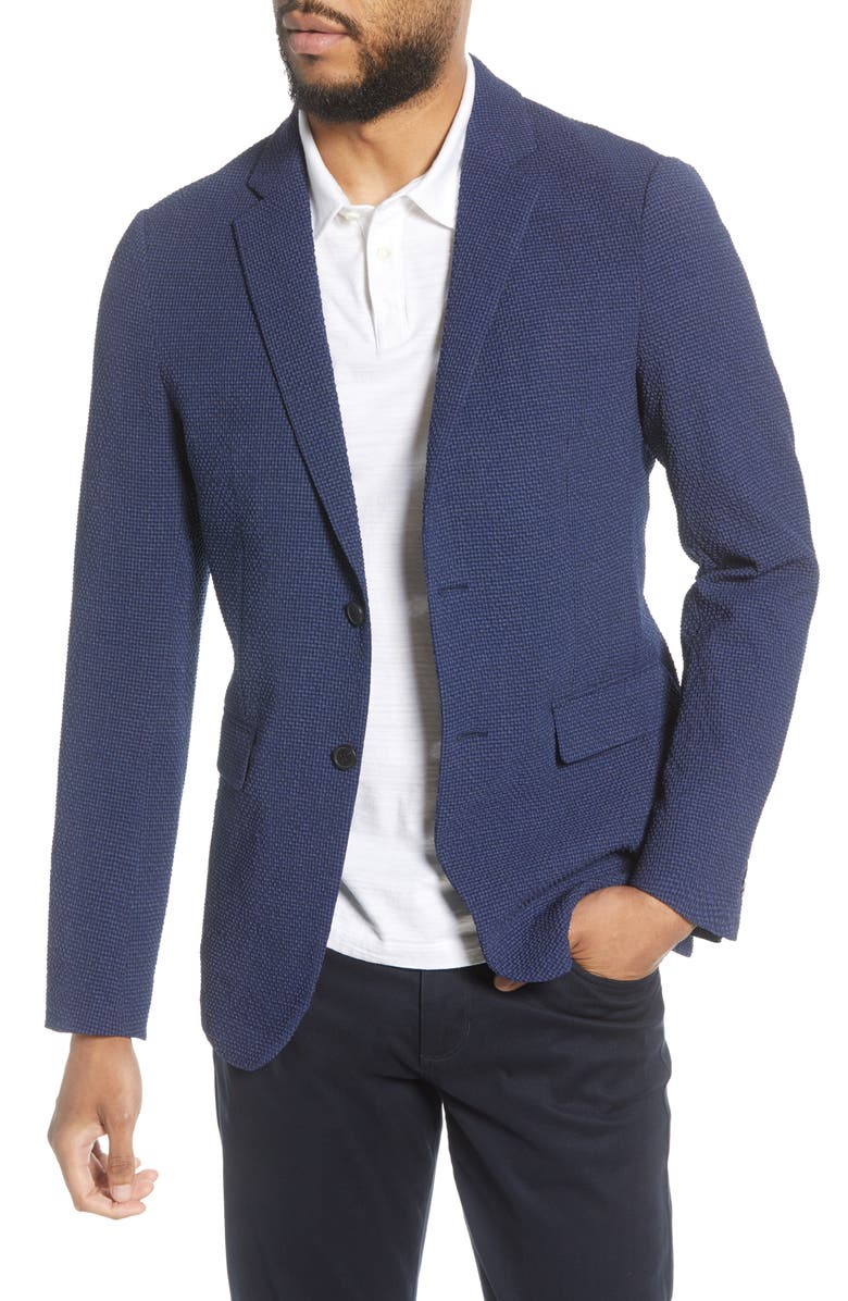 THEORY Newson Slim Fit Waffle Weave Wool Blend Sport Coat, Main, color, 491