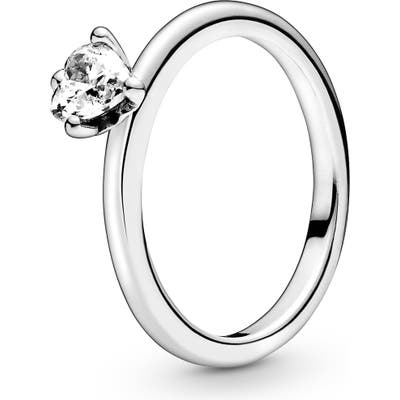 Pandora Heart Solitaire Ring