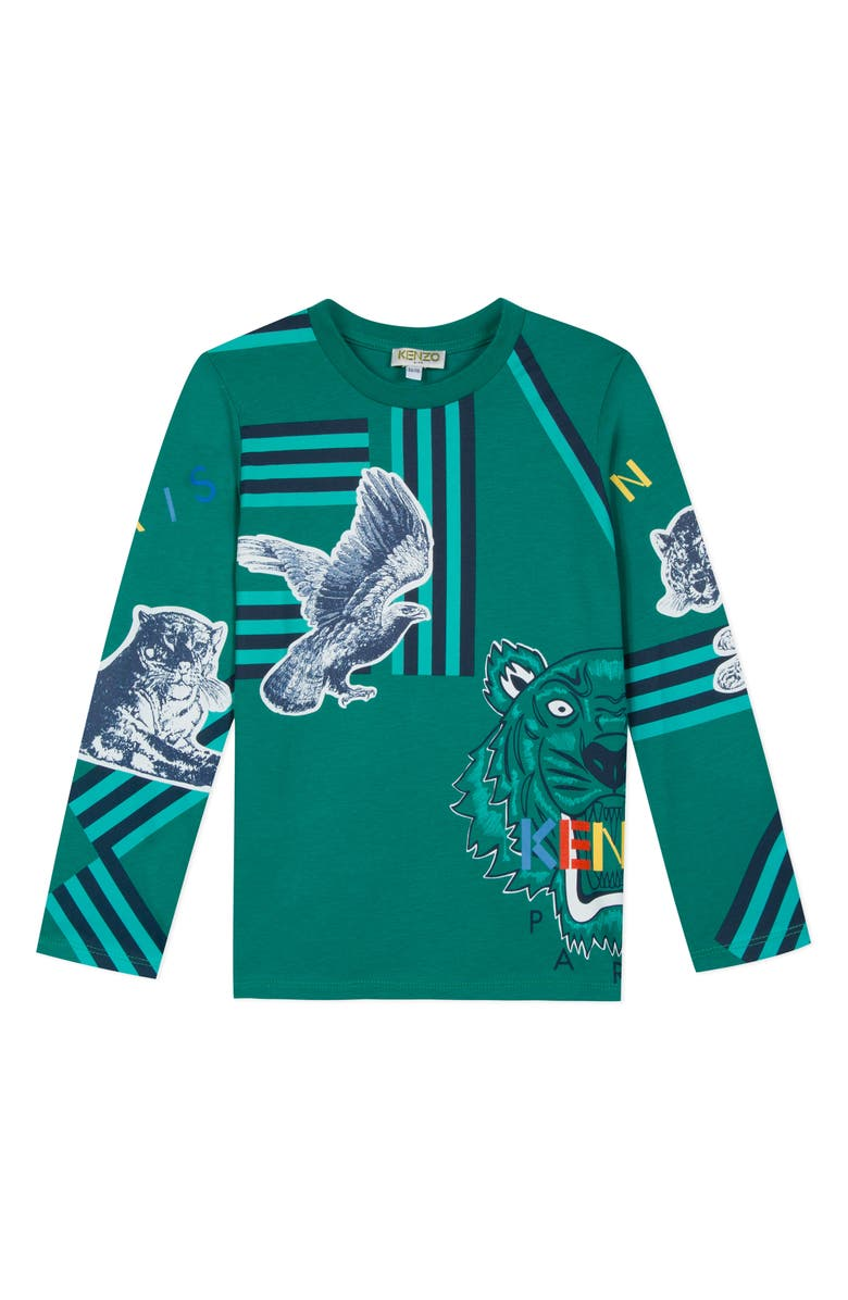 KENZO Iconic Bird T-Shirt, Main, color, BRIGHT GREEN