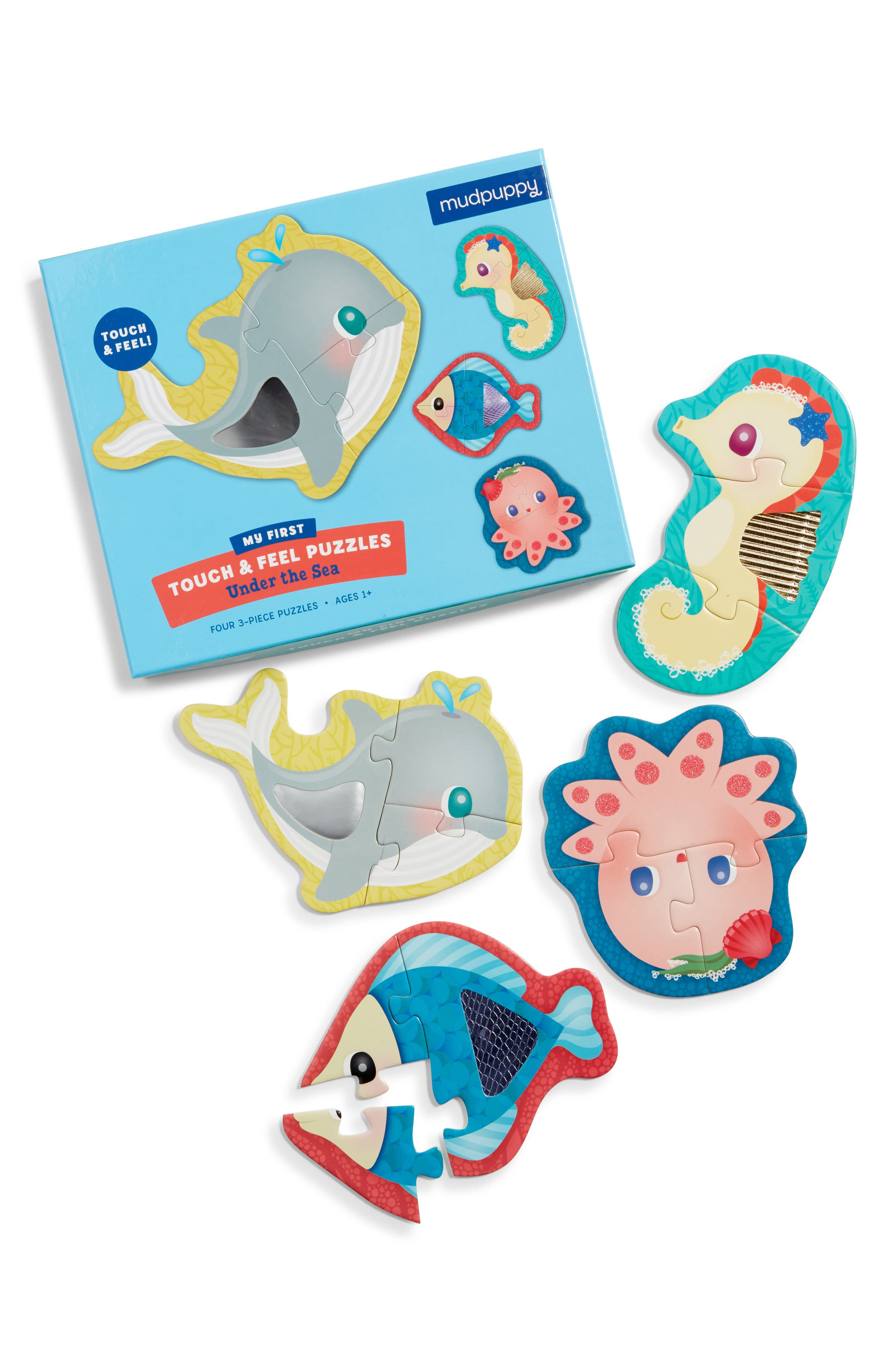 Toddler Mudpuppy Under The Sea My First Touch  Feel Puzzle
