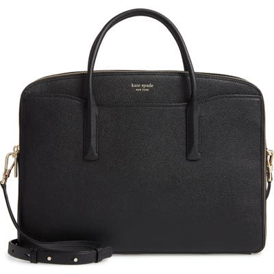 Kate Spade New York Margaux Leather Universal Laptop Bag - Black