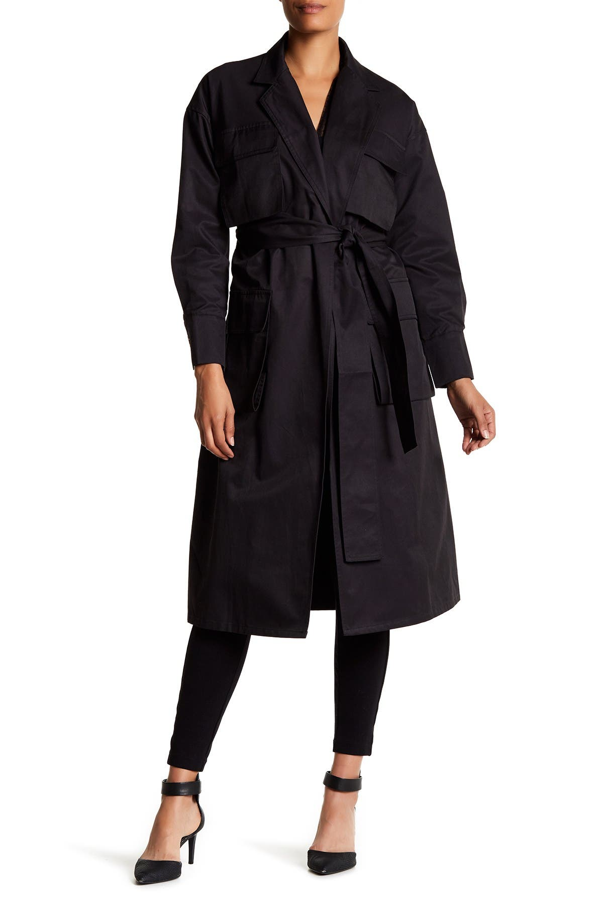 Image of TOV Flap Pocket Trench Coat