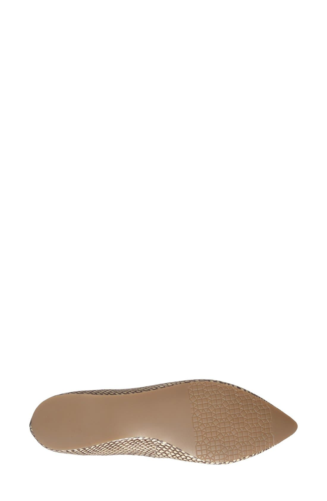,                             'Moveover' Pointy Toe Leather Flat,                             Alternate thumbnail 13, color,                             232