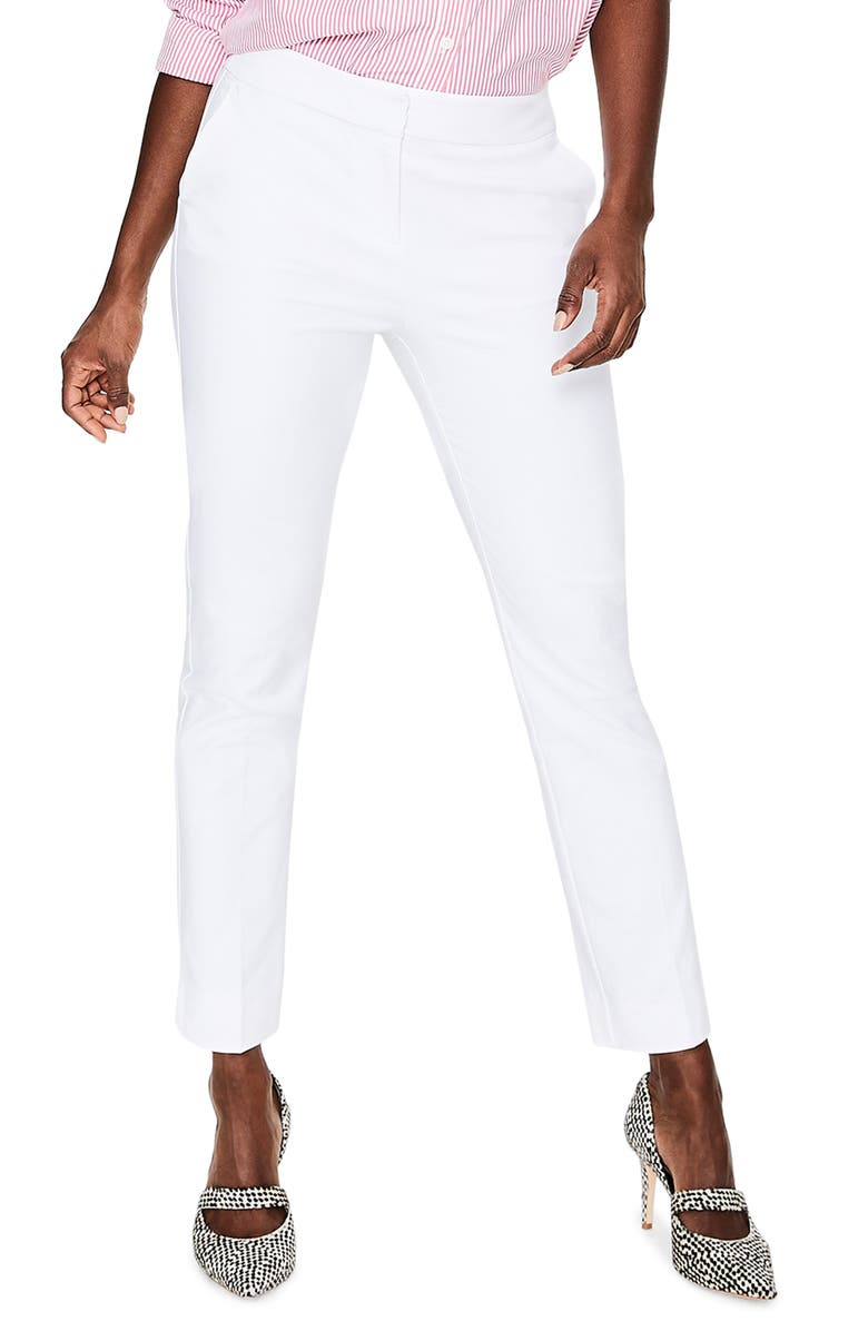 BODEN Richmond Ankle Pants, Main, color, WHITE