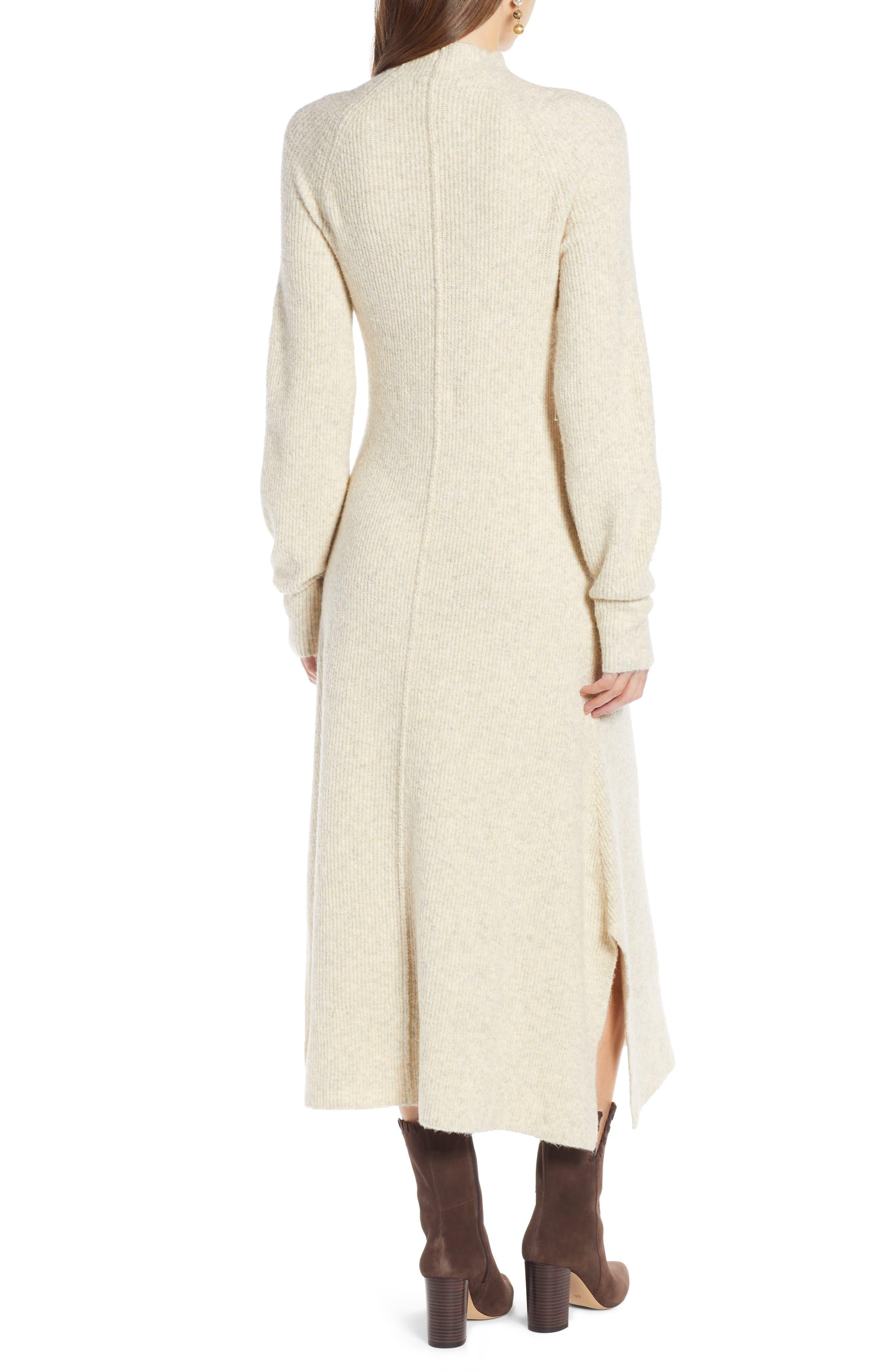,                             Mock Neck Maxi Sweater Dress,                             Alternate thumbnail 2, color,                             260