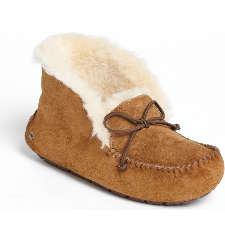 UGG<SUP>®</SUP> UGGpure<sup>™</sup> Alena Suede Slipper Bootie, Main, color, CHESTNUT