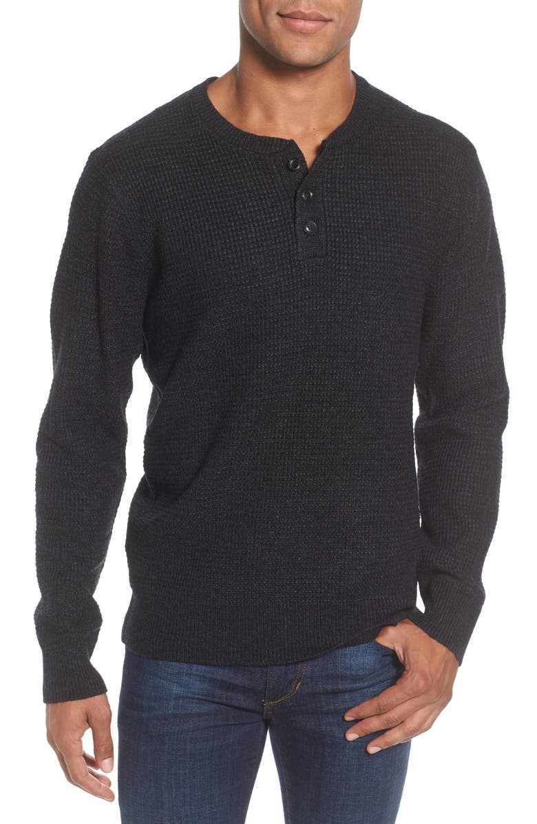 SCHOTT NYC Thermal Henley, Main, color, BLACK