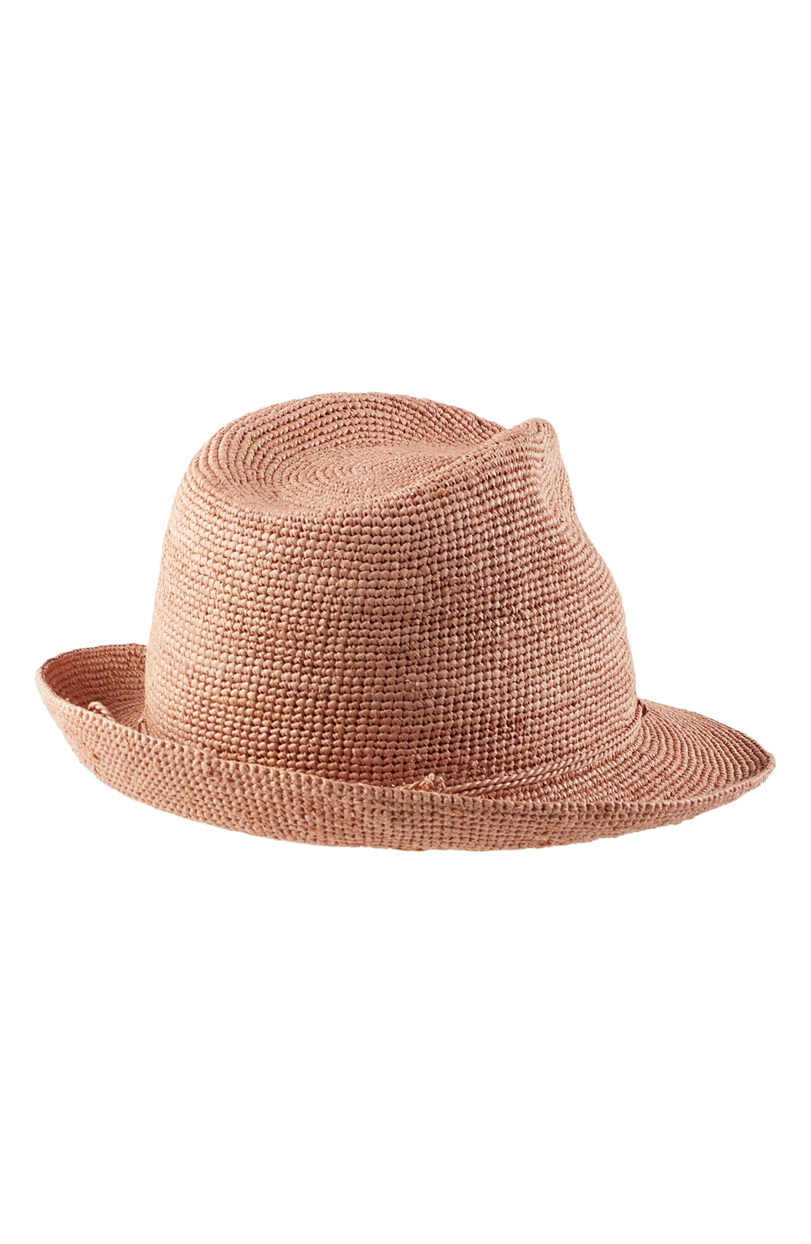 ,                             Raffia Crochet Packable Sun Hat,                             Alternate thumbnail 2, color,                             LIGHT MUSK