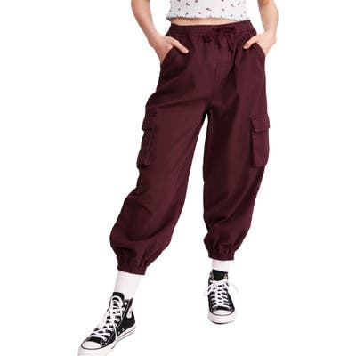 Bdg Urban Outfitters Raff Elastic Cuff Cotton Cargo Pants, Purple