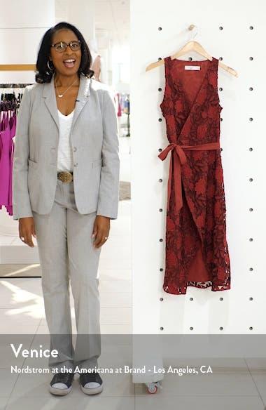 The London Lace Wrap Midi Dress, sales video thumbnail