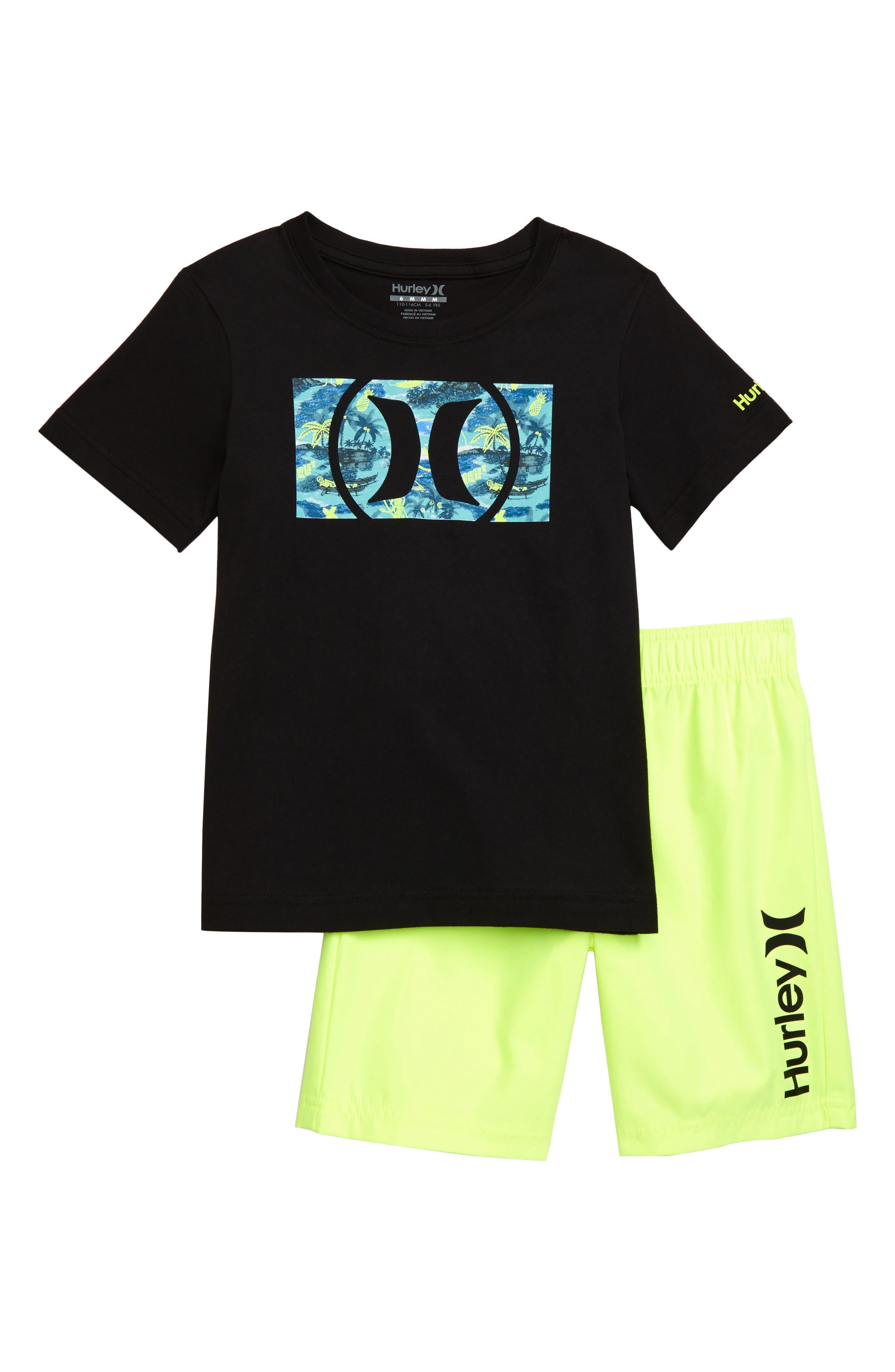 Toddler Boys Hurley Logo TShirt  Athletic Shorts Set