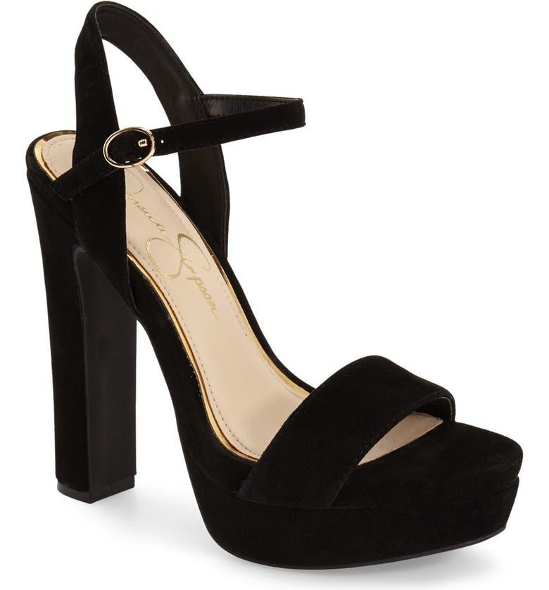 JESSICA SIMPSON 'Blaney' Platform Sandal, Main, color, 001