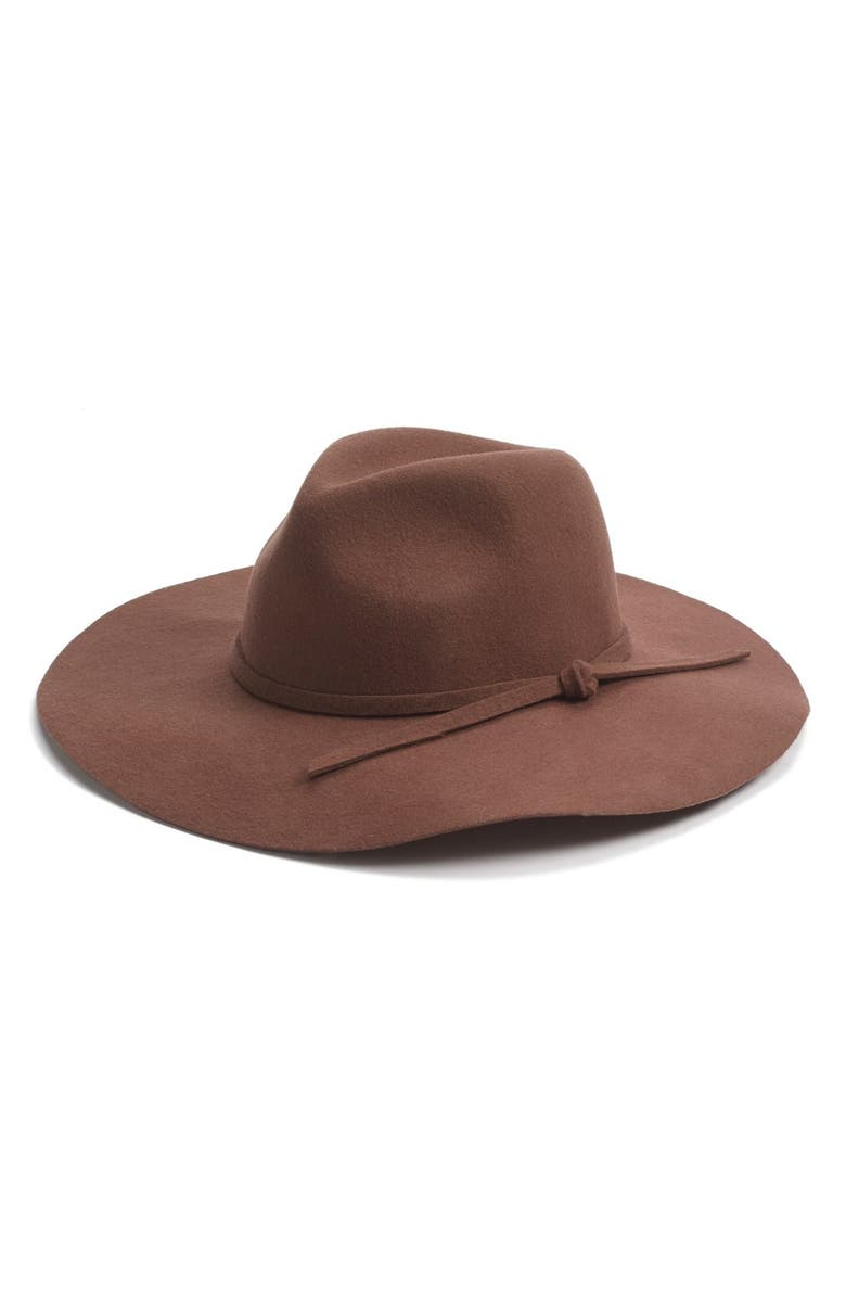 PHASE 3 Wide Brim Wool Fedora, Main, color, 200