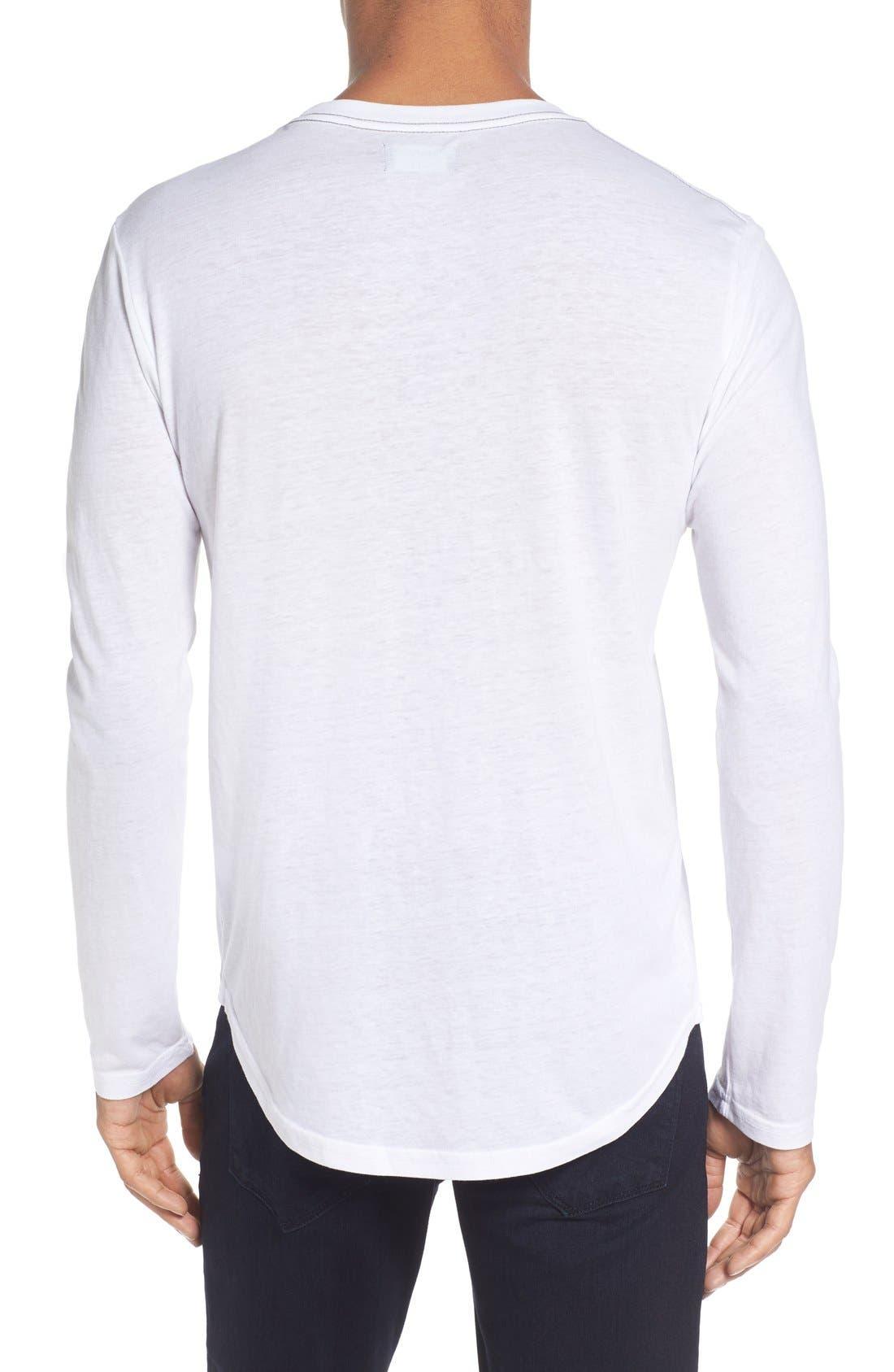 ,                             Triblend Scallop Long Sleeve Crewneck T-Shirt,                             Alternate thumbnail 17, color,                             100