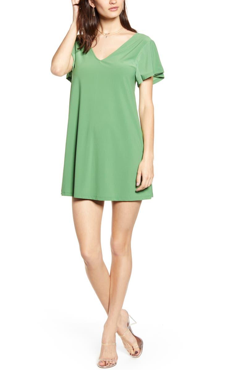 LEITH Ruffle Sleeve Shift Minidress, Main, color, 310