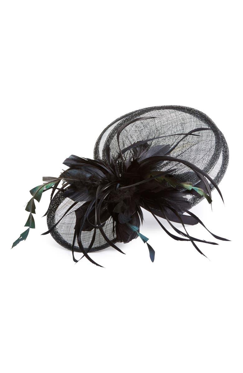 TASHA 'Fireworks & Feathers' Fascinator Headband, Main, color, 001