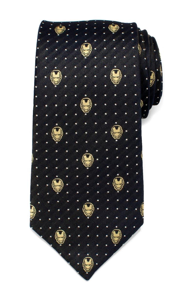 CUFFLINKS, INC. 'Iron Man' Silk Tie, Main, color, GRAY