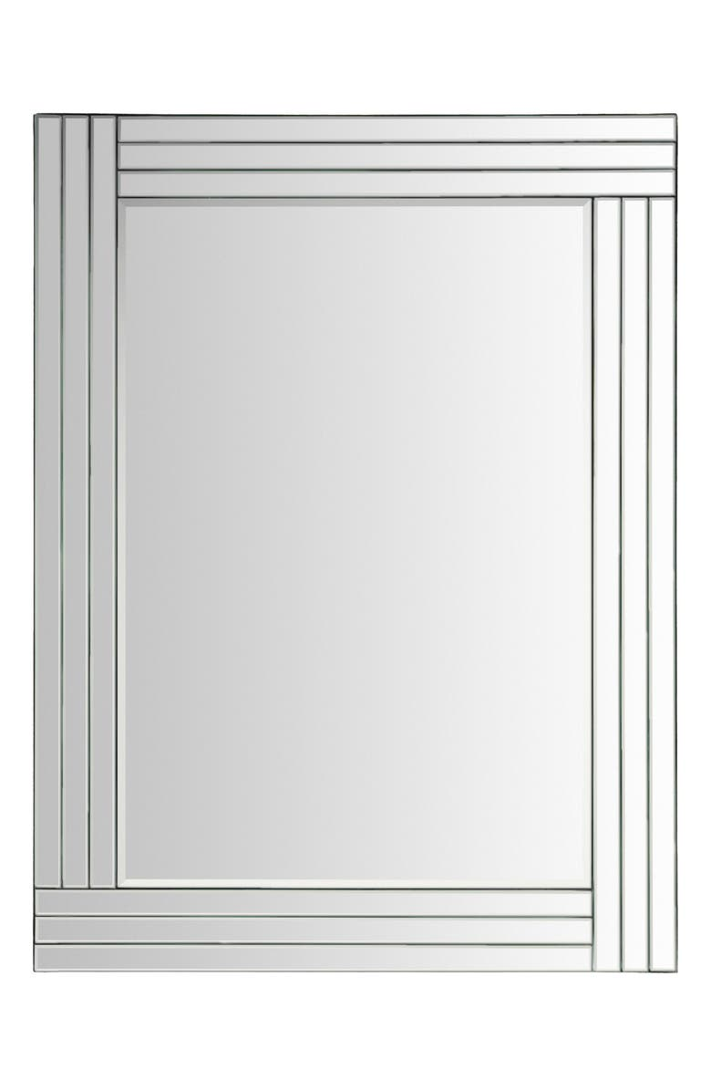 SURYA HOME Seymour Beveled Mirror, Main, color, SILVER