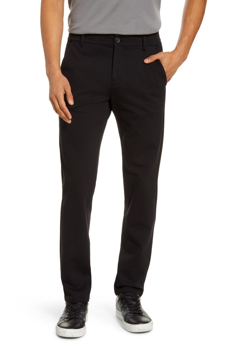 PAIGE Transcend Stafford Slim Fit Knit Pants, Main, color, 001