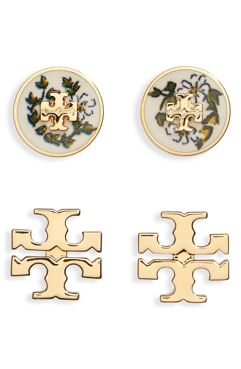 토리버치 귀걸이 Tory Burch Kira Set of 2 Stud Earrings