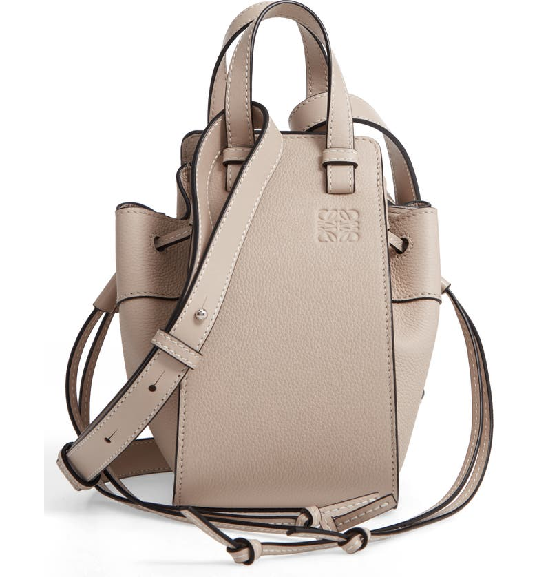 LOEWE Hammock Mini Leather Hobo, Main, color, LIGHT OAT