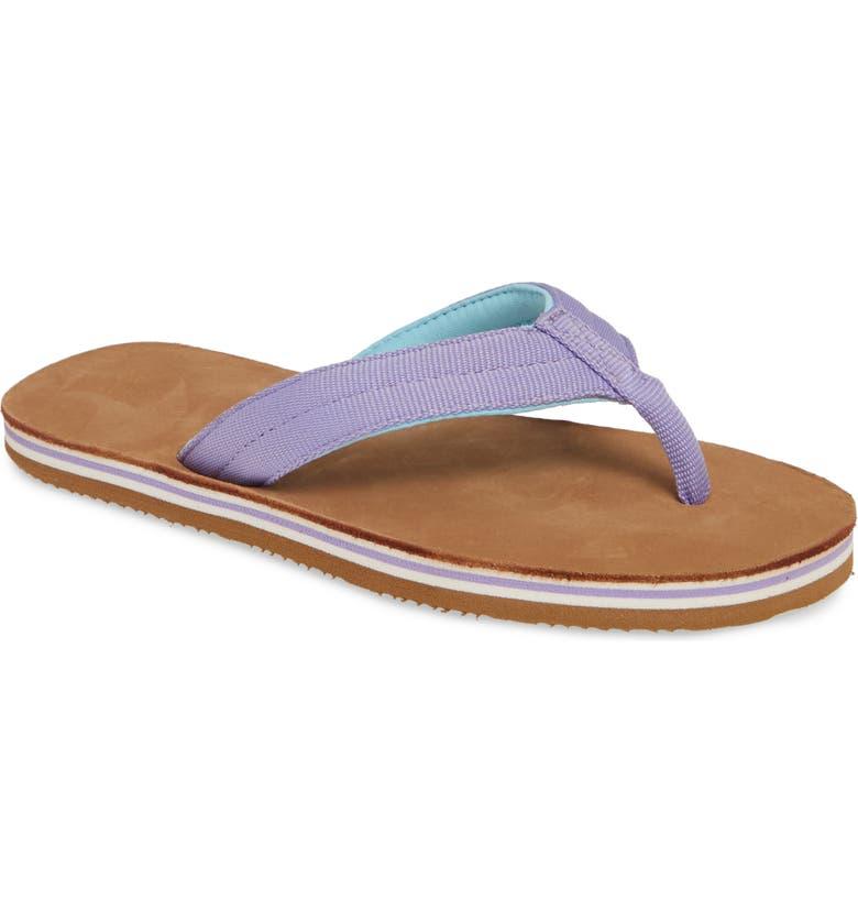 HARI MARI Scouts Flip Flop, Main, color, VIOLET/ TAN
