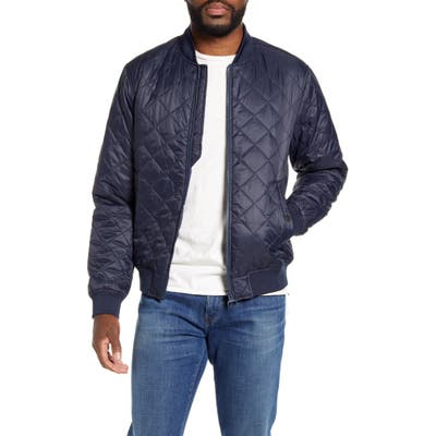 Barbour Gabble Quilted Nylon Bomber Jacket, Blue