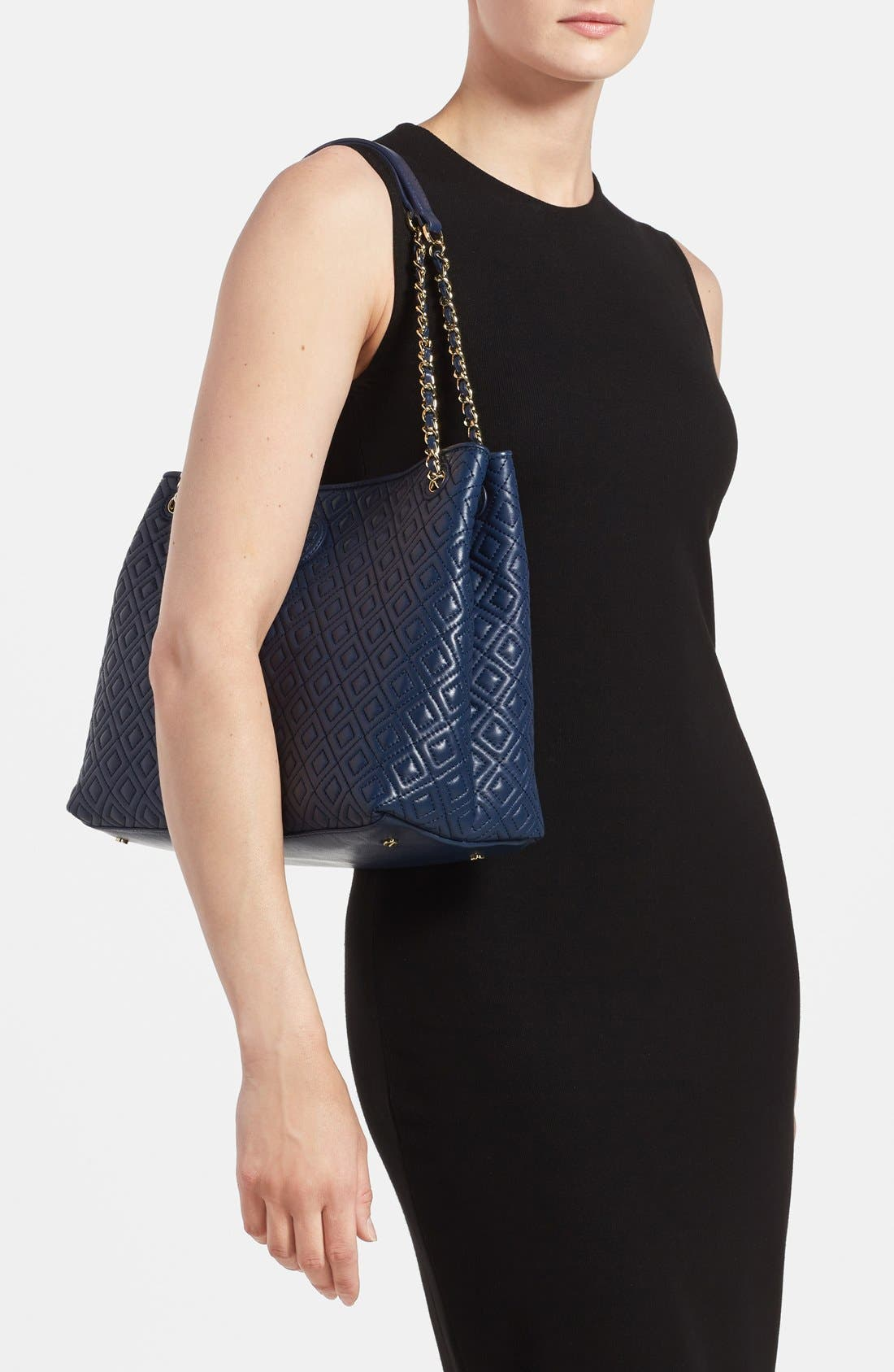 ,                             'Marion' Diamond Quilted Leather Tote,                             Alternate thumbnail 7, color,                             400