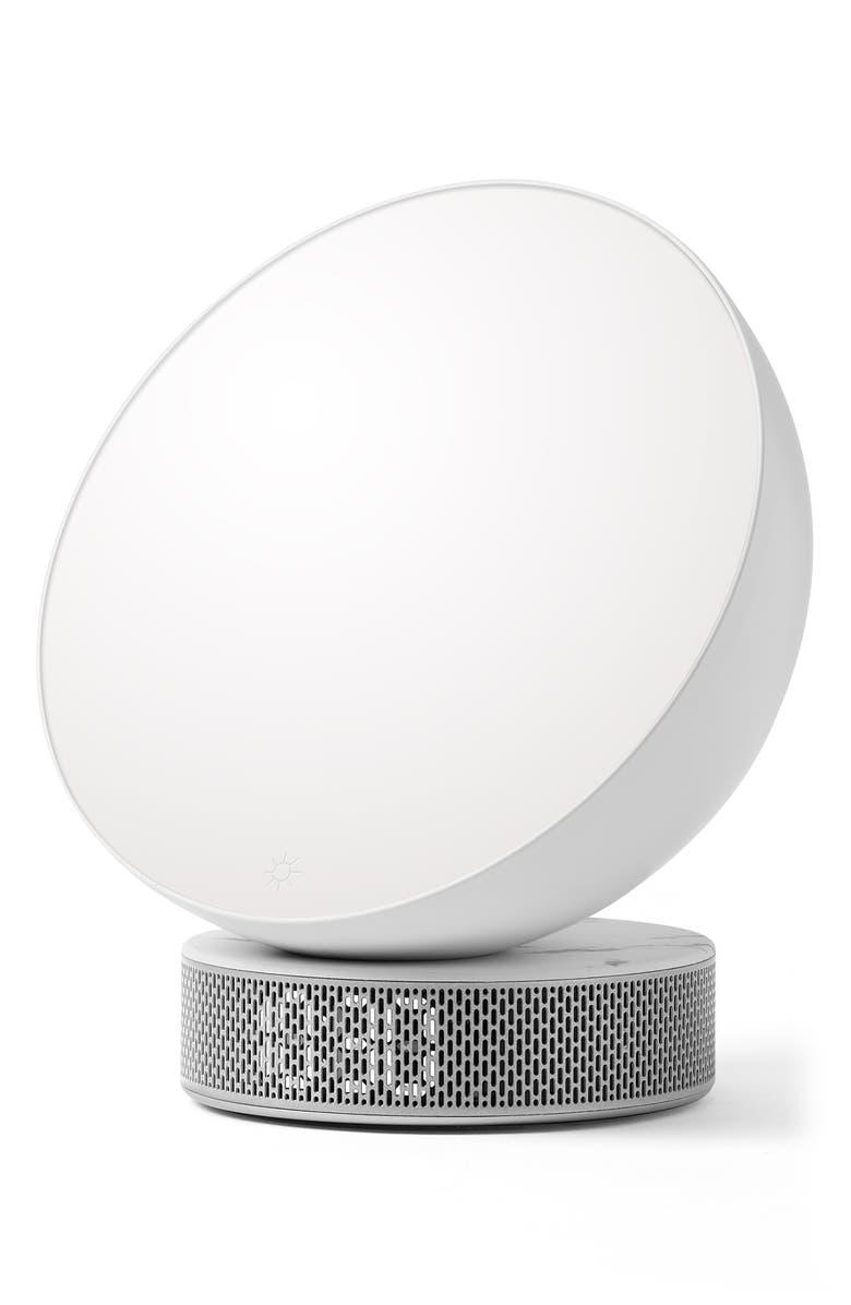 LEXON Miami Sunrise Alarm Clock, Main, color, WHITE MARBLE