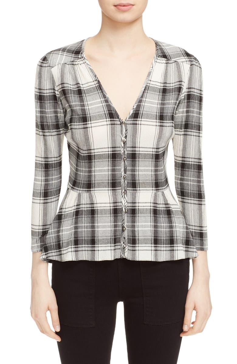 VERONICA BEARD 'Pismo' Plaid Shirt, Main, color, 020