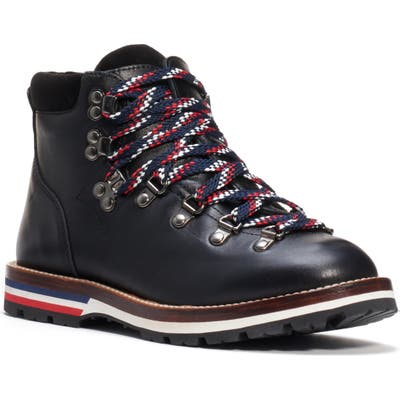 Moncler Blanche Lace-Up Boot, Black