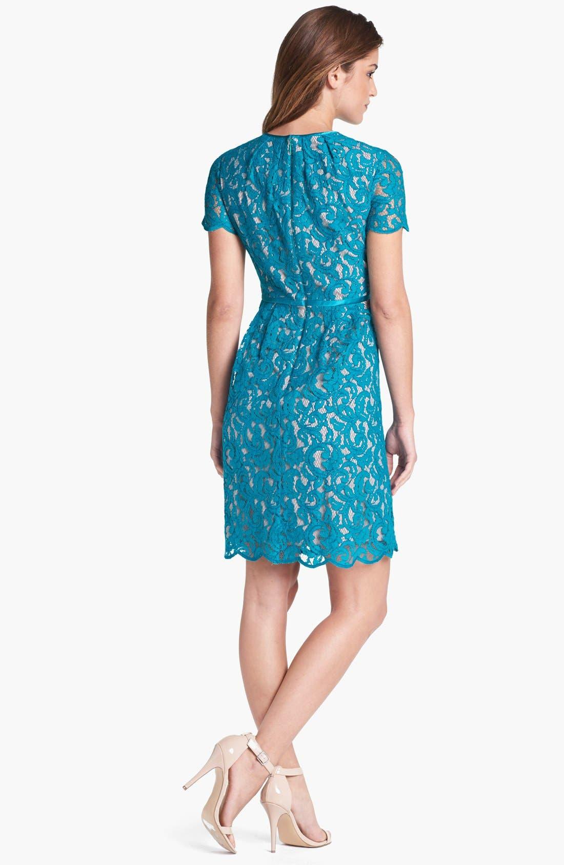 ,                             Scalloped Lace Dress,                             Alternate thumbnail 9, color,                             444