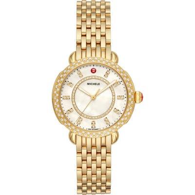 Michele Sidney Classic Diamond Watch Head & Interchangeable Bracelet, 3m