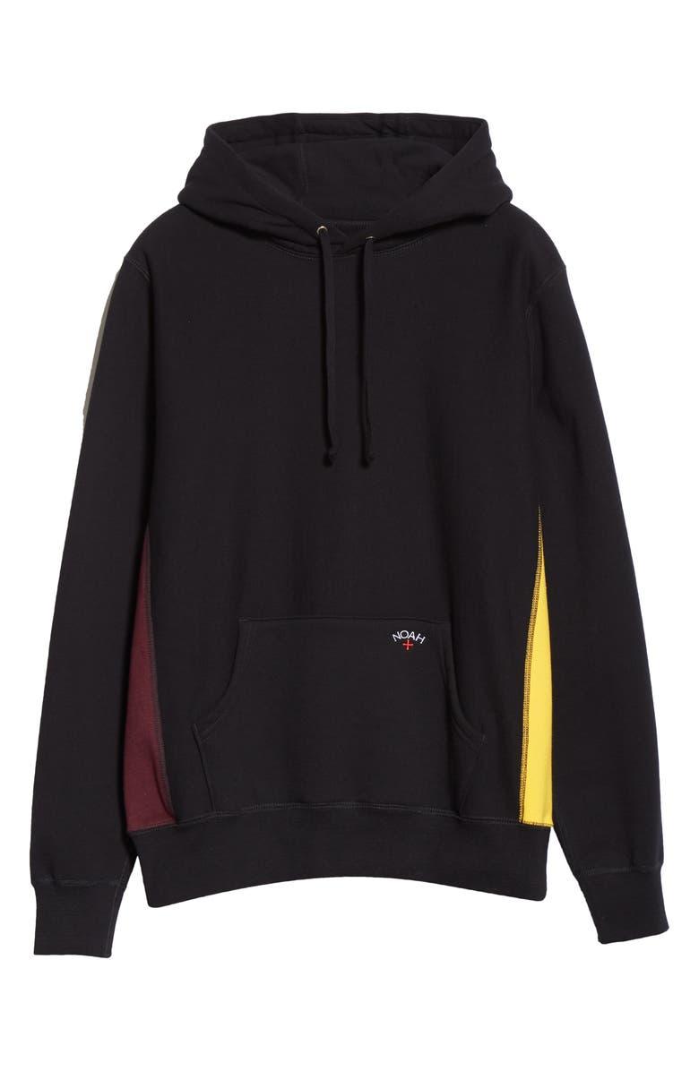 NOAH Tricolor Fleece Hoodie, Main, color, BLACK