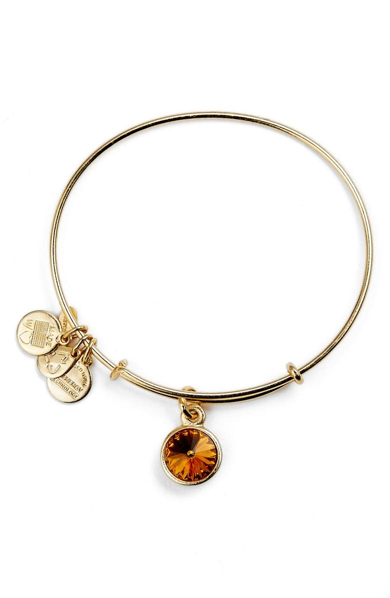 ALEX AND ANI Birthstone Expandable Wire Bangle, Main, color, 200
