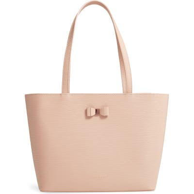 Ted Baker London Deannah Leather Shopper & Pouch - Beige