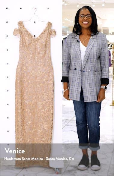 Cold Shoulder Lace Column Gown, sales video thumbnail