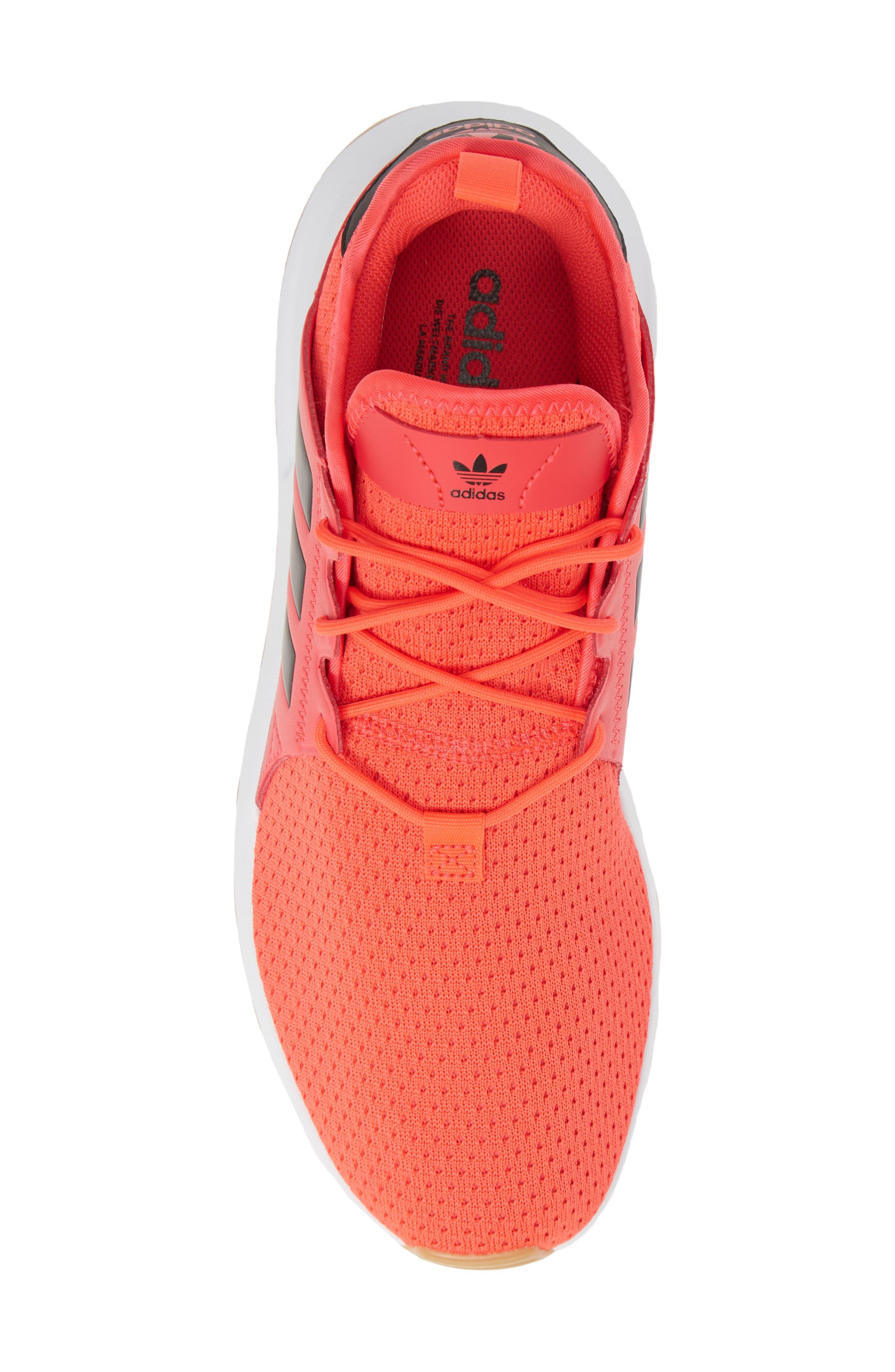 ,                             X_PLR Sneaker,                             Alternate thumbnail 5, color,                             SHOCK RED/ CORE BLACK/ WHITE