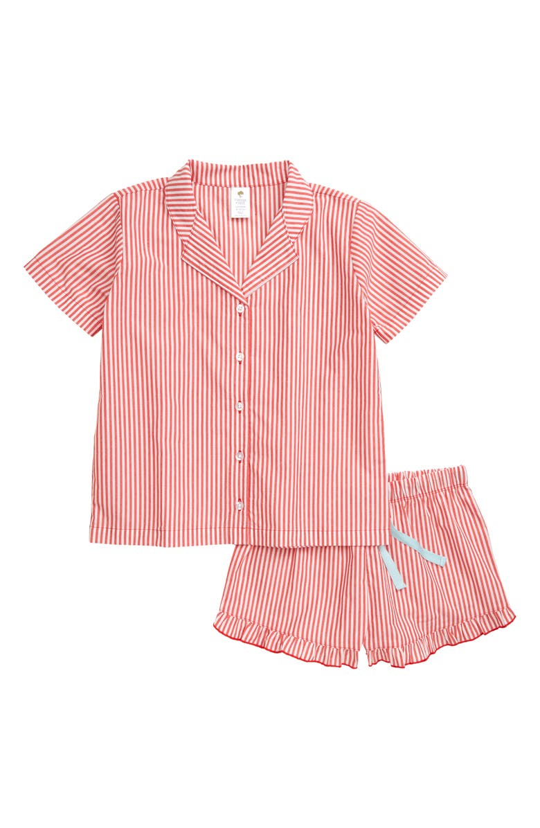TUCKER + TATE Two-Piece Notch Collar Short Set, Main, color, 100