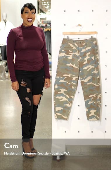 The Patch Pocket Frayed Ankle Military Pants, sales video thumbnail