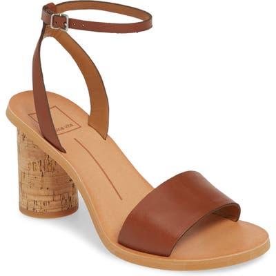 Dolce Vita Jali Column Heel Sandal- Brown