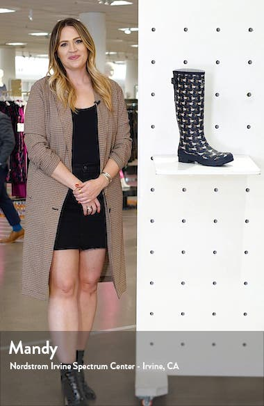 'Welly' Print Rain Boot, sales video thumbnail