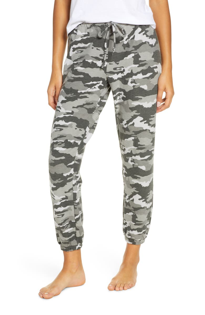 CHASER Camo Print Knit Lounge Jogger Pants, Main, color, CAMO
